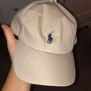 Tan polo hat